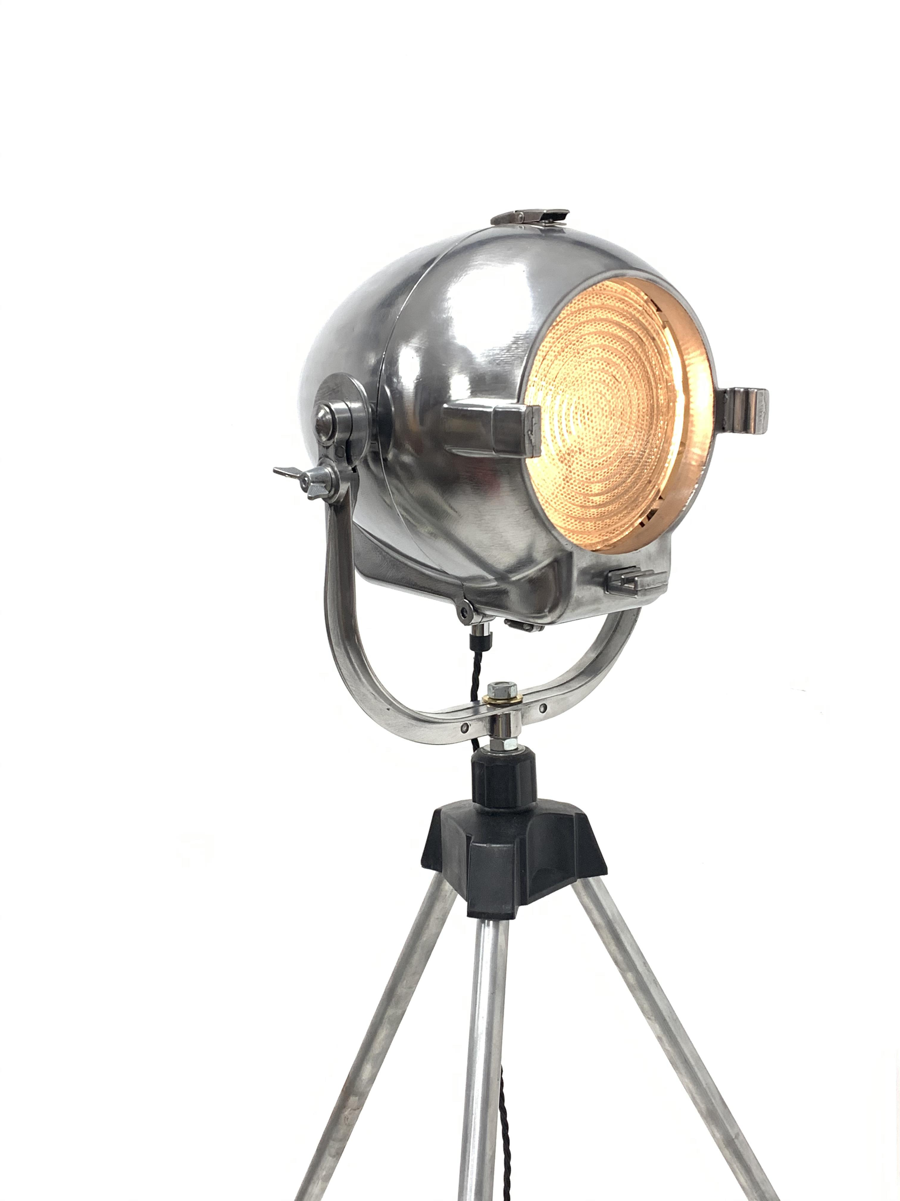 Mid 20th century 'Rank Strand' polished alloy stage light - Image 2 of 3