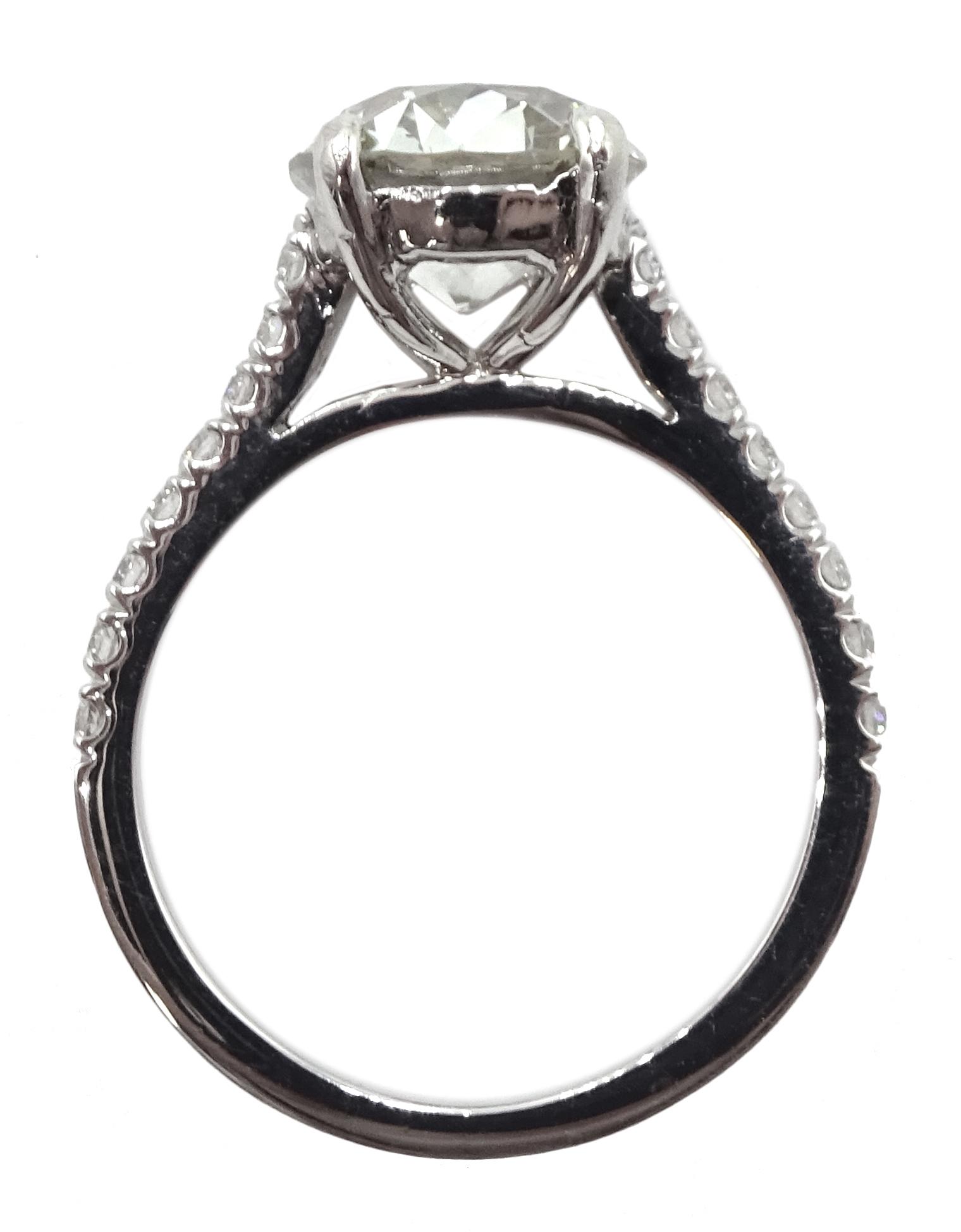 Platinum old cut diamond solitaire ring - Image 7 of 9