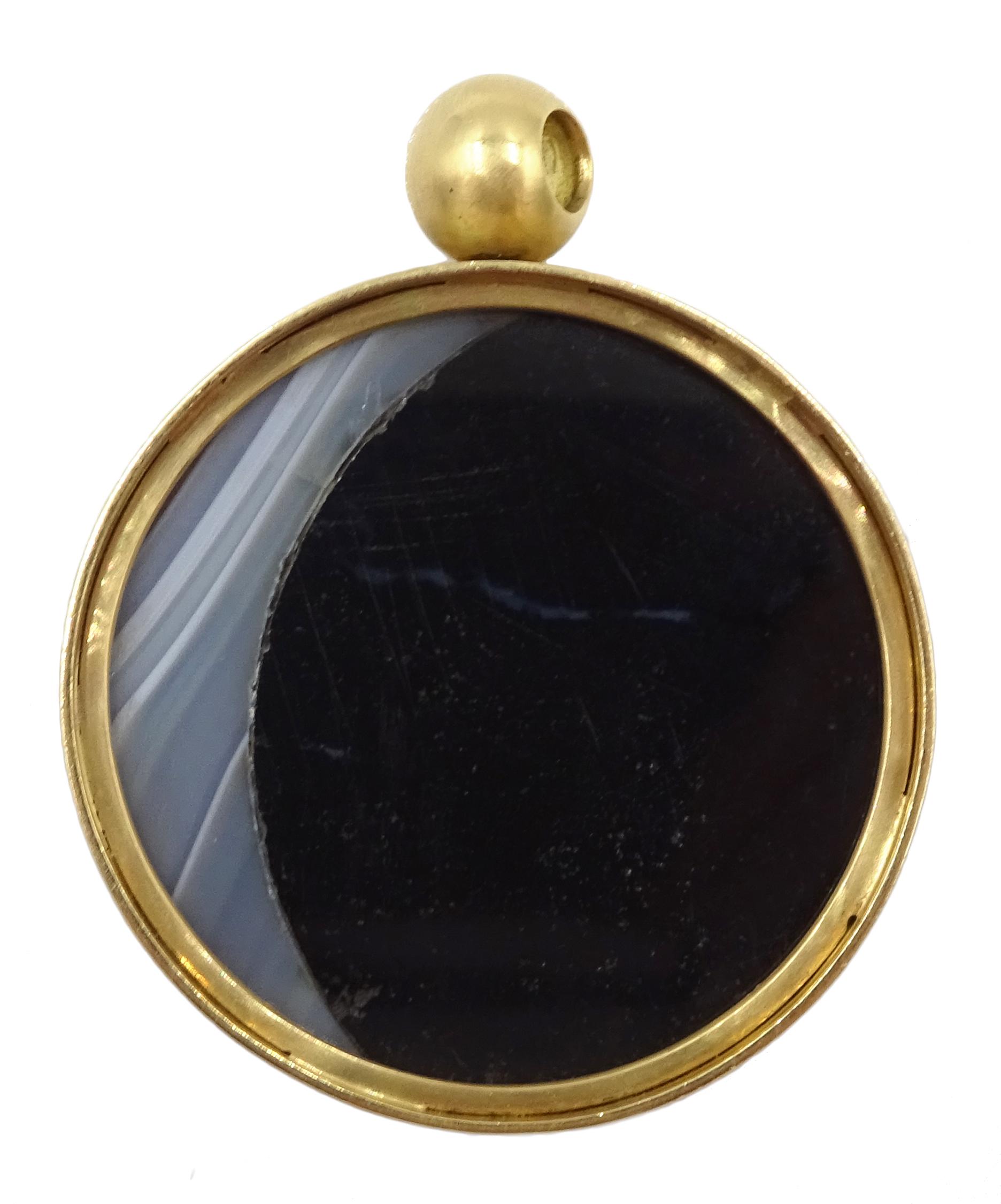 18ct gold swivel pendant - Image 2 of 3