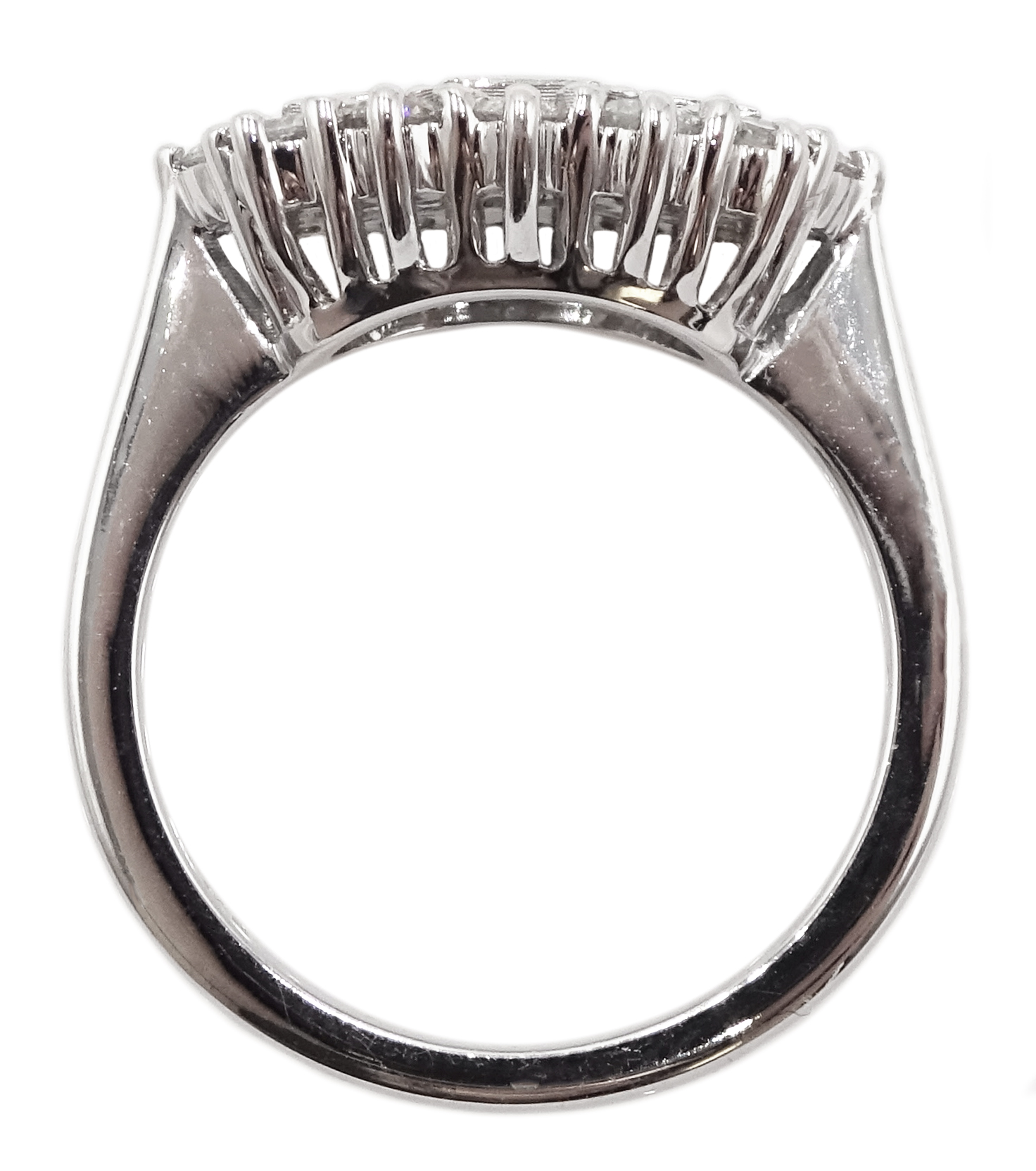18ct white gold and diamond cluster ring - Image 5 of 6