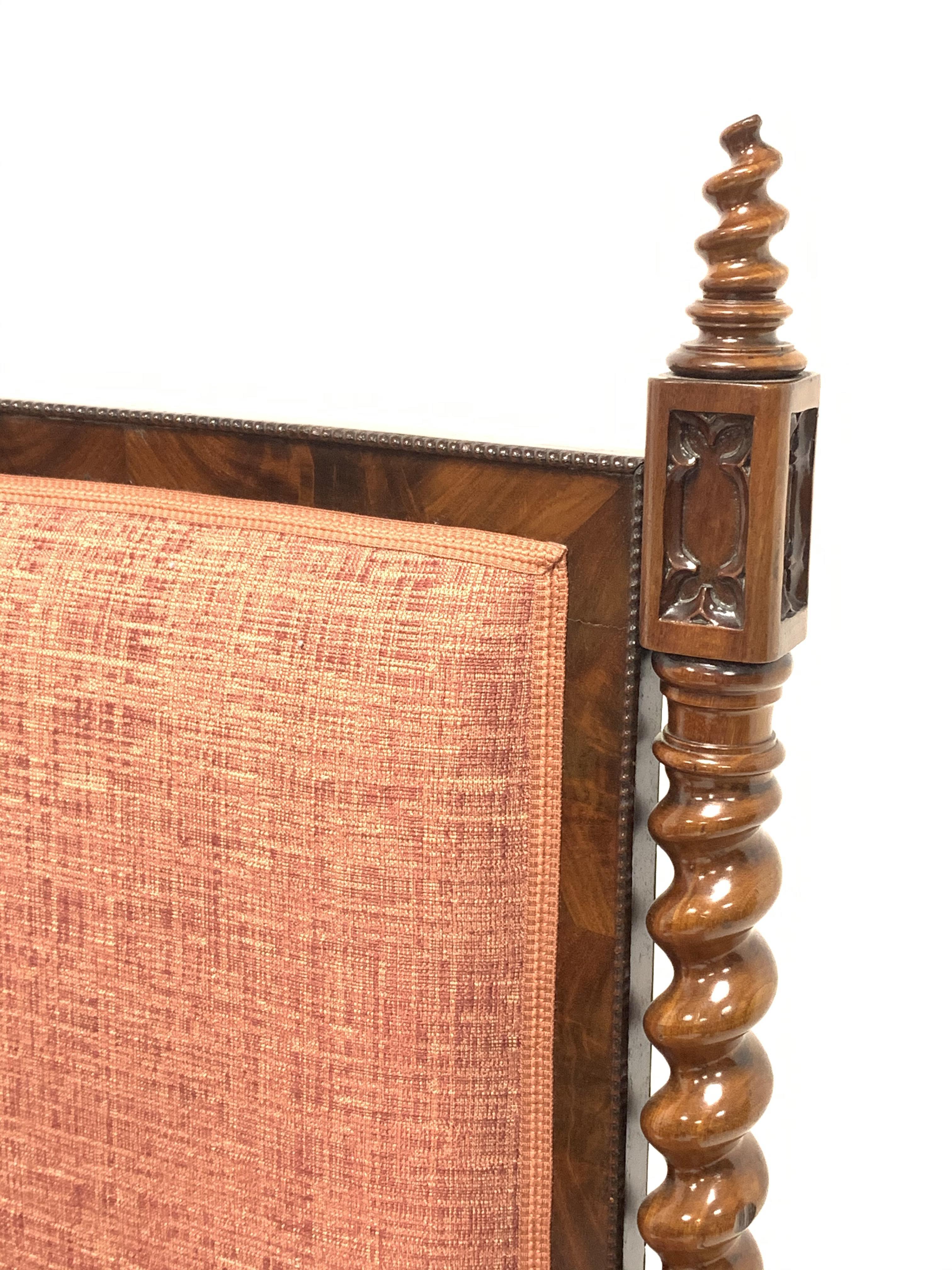 19th century Puginesque mahogany throne chair - Image 2 of 6