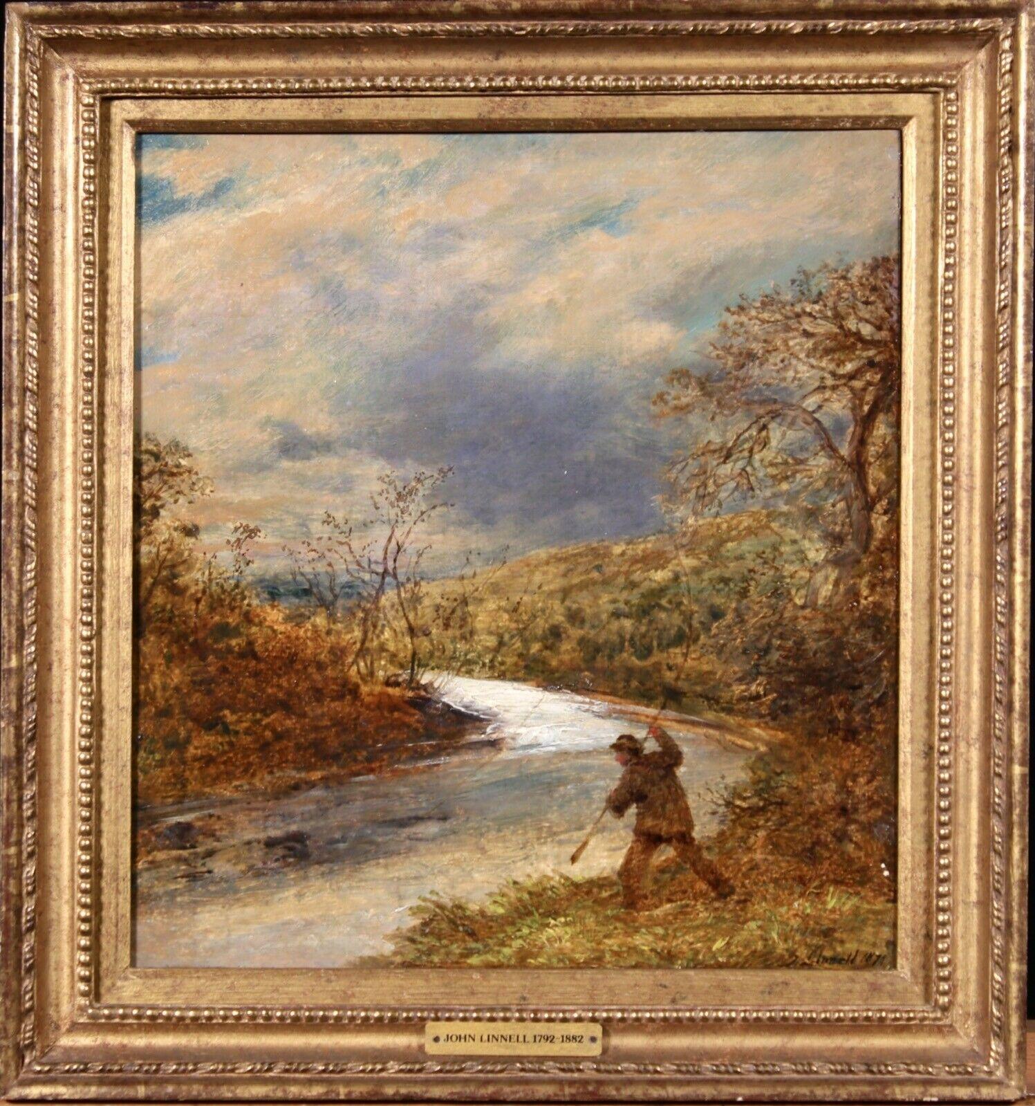 John Linnell (British 1792-1882): The Angler - Image 2 of 2