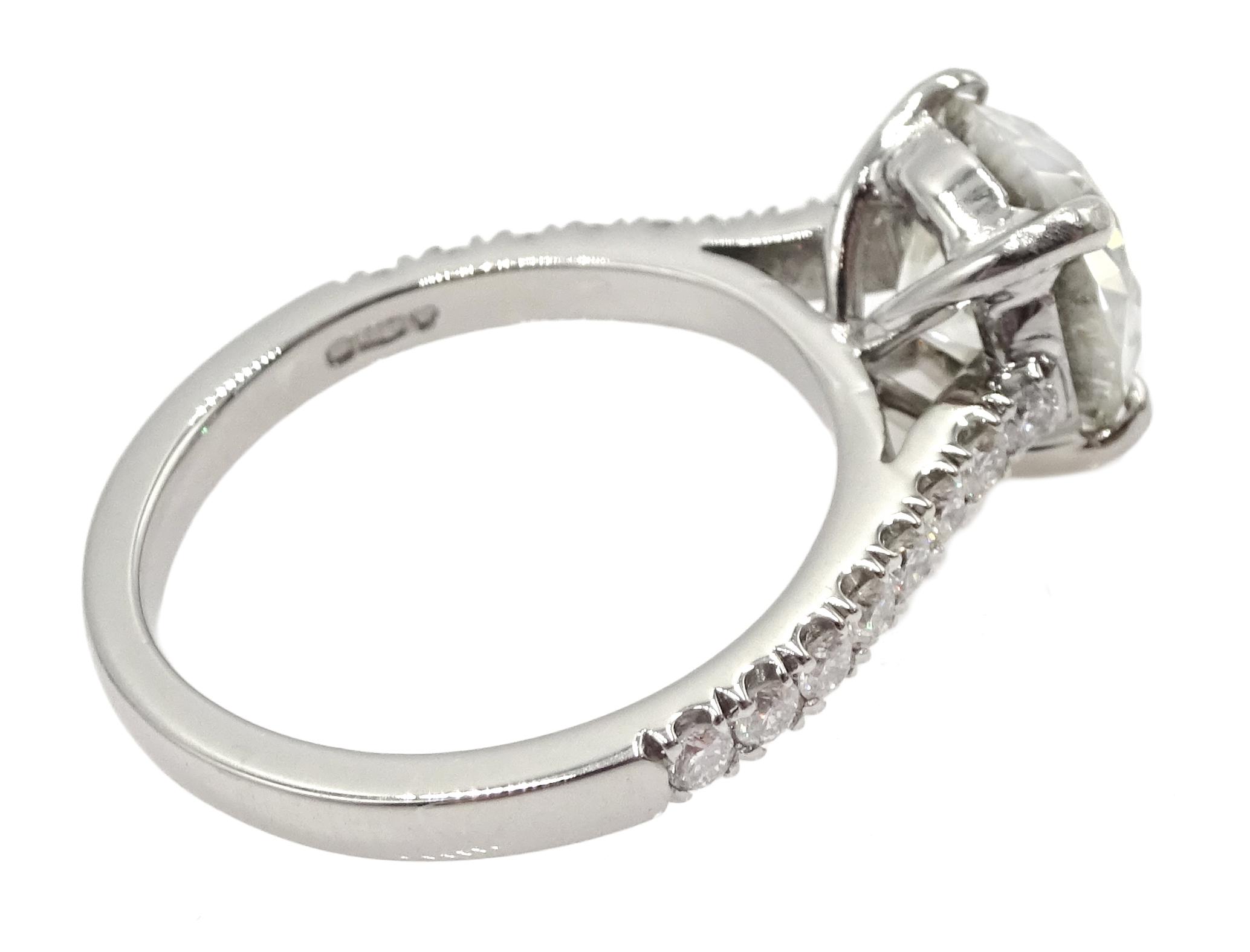 Platinum old cut diamond solitaire ring - Image 6 of 9