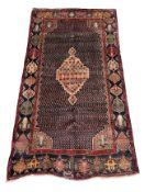 Persian Hamadan blue ground rug
