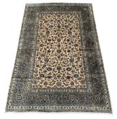 Persian Kashan ivory ground rug