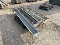 4 x Galvanised livestock trough