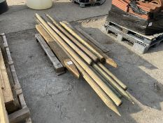 Qty Wooden fence posts