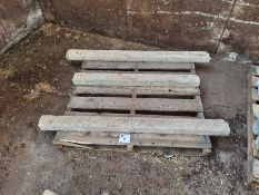 3 x Concrete pillars