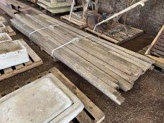 Qty Sawn timber rails 3.5' x 1'