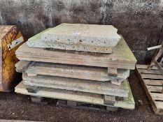 Qty Concrete grain panels
