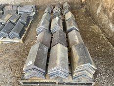 """3 x Pallets ridge tiles approx 18"""" x 11"""""""