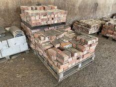 3 x Pallets red bricks
