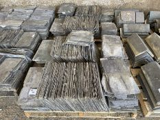 """2 x Pallets roof slate tiles approx 18"""" x 10"""""""