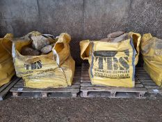 2 x bags of local stone