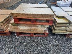 Pallet of concrete slabs