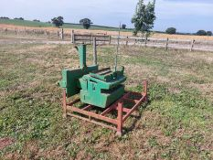 John Deere wafer weights and frame