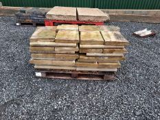 Pallet of swimming pool coping stones