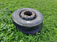 2x Michelin X Radial 11R22.5XZT wheels and tyres