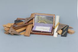 Collection of Boxwood Rules, Scales & Drawing Instruments,