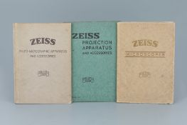 Collection of Zeiss Microscope Catalogues,