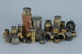 Collection Or Microscope & Telescope Lenses,
