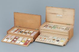 Two Cases of Microscope Slides,