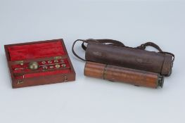 A Dollond Telescope & Sikes Hydrometer,