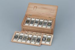 Fine Collection of 72 Fred Enock Microscope Slides,