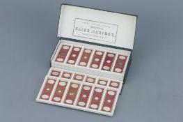 Set of 36 Cased C. M. Topping Microscope Slides