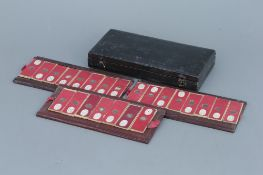 Early Leather Case of Microscope Slides,