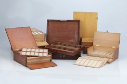 Collection of Microscope Slide Cases,