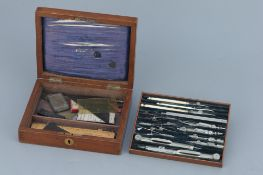 German Silver Drawing Instruments By Stanley,