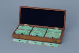 An Early Collection of Microscope Slides,