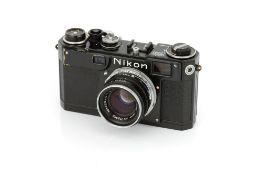 A Nikon S2 'Black Dial' Rangefinder Camera,