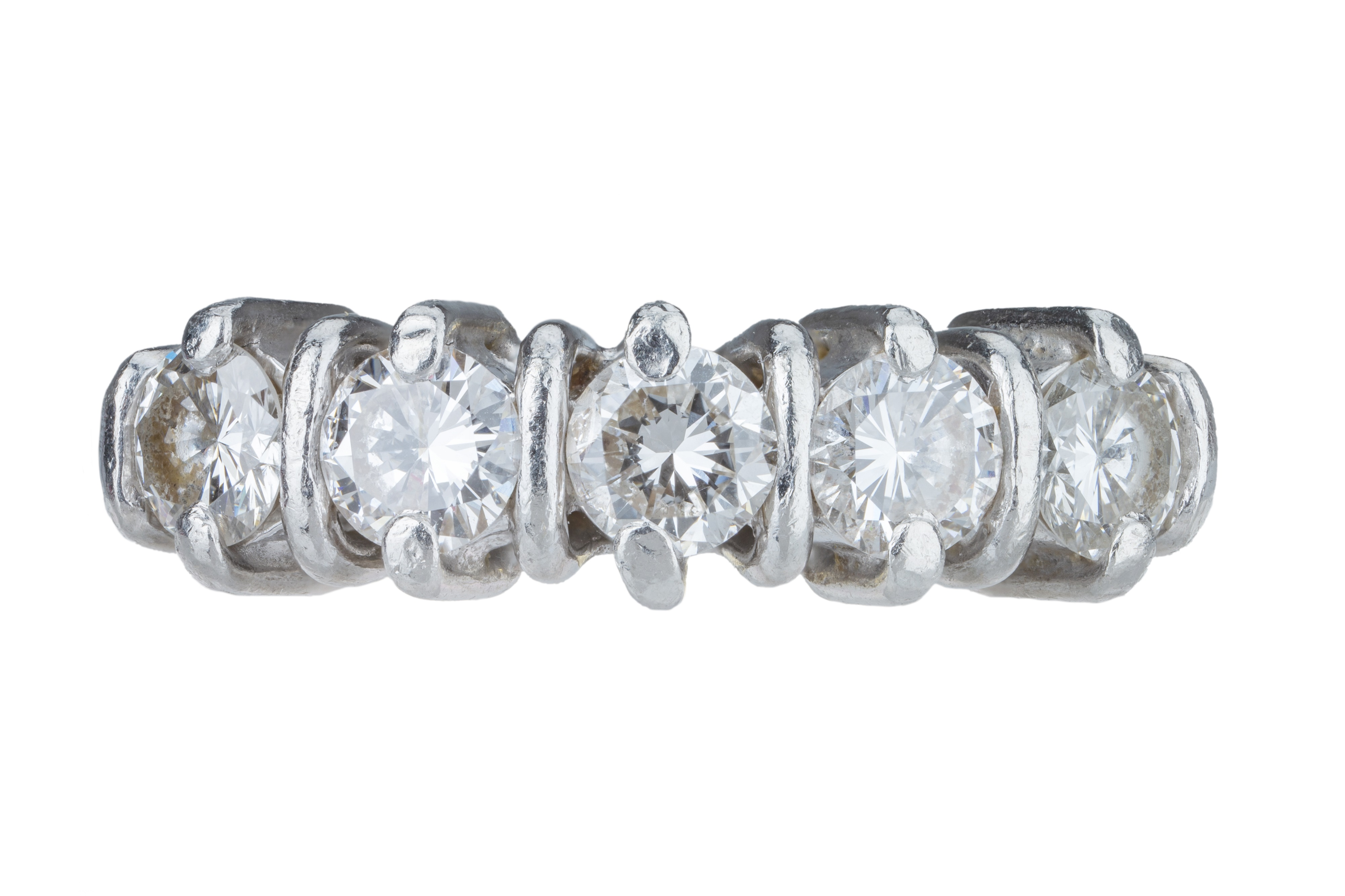 A five stone diamond ring