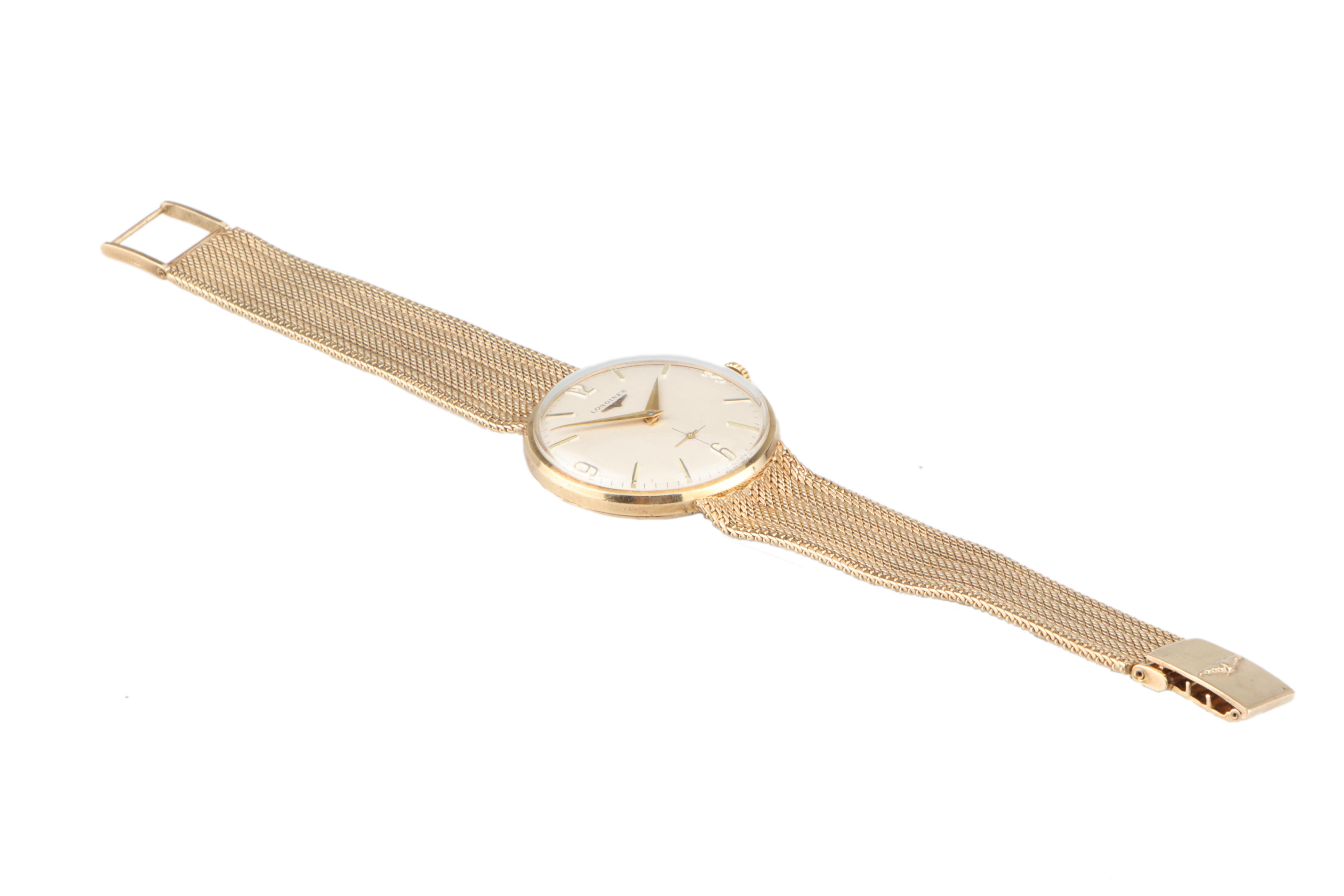 A Fine Gentleman's Longines Gold Wristwatch, - Image 3 of 3