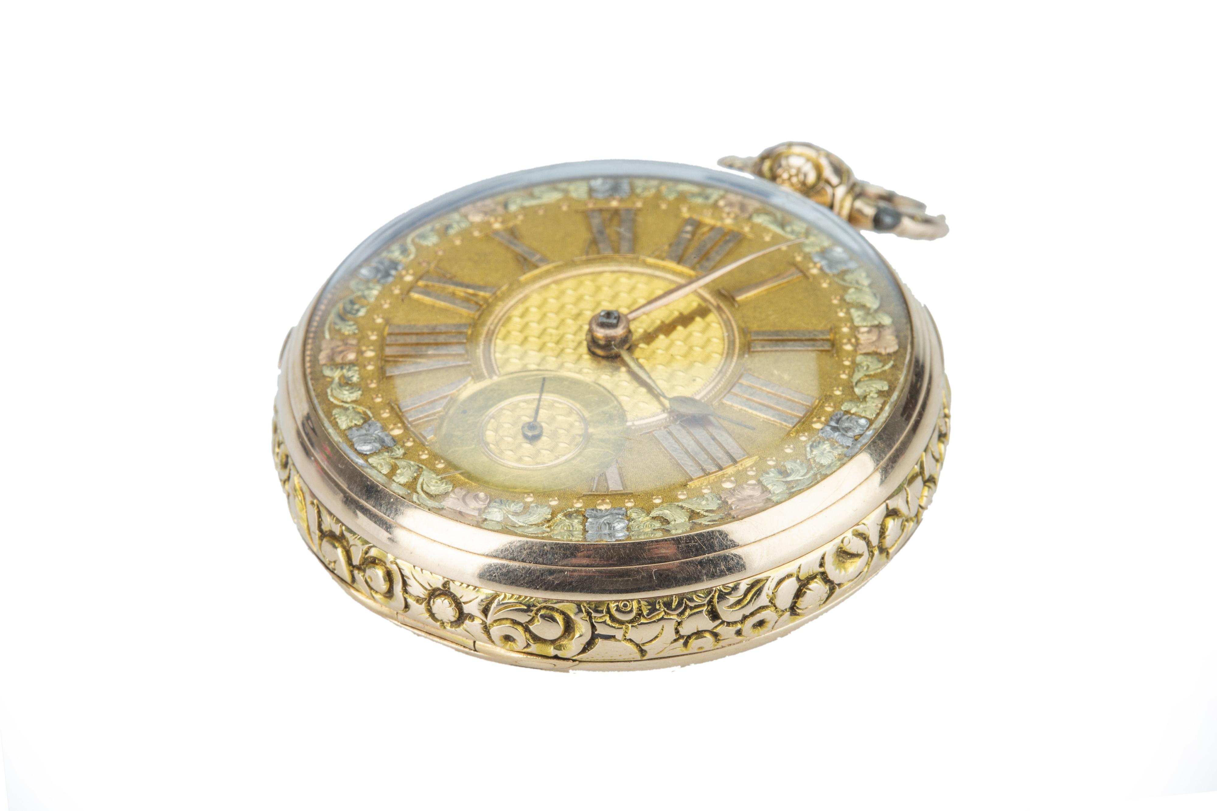 A George IV Irish 18ct gold pocket watch. - Image 4 of 7