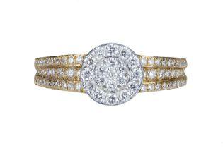 A illusion set diamond ring.