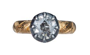 A Georgian style single stone diamond ring.