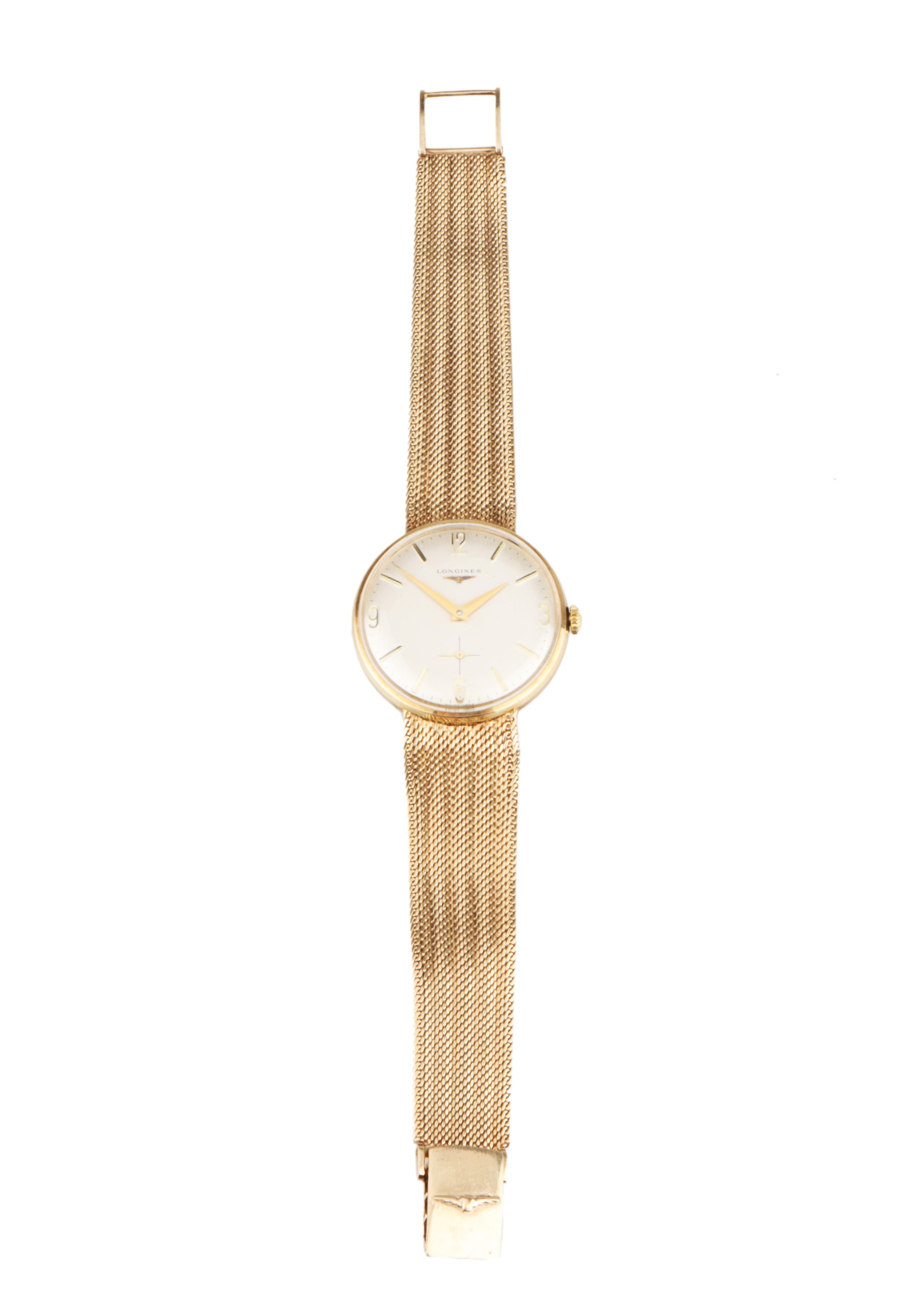 A Fine Gentleman's Longines Gold Wristwatch,