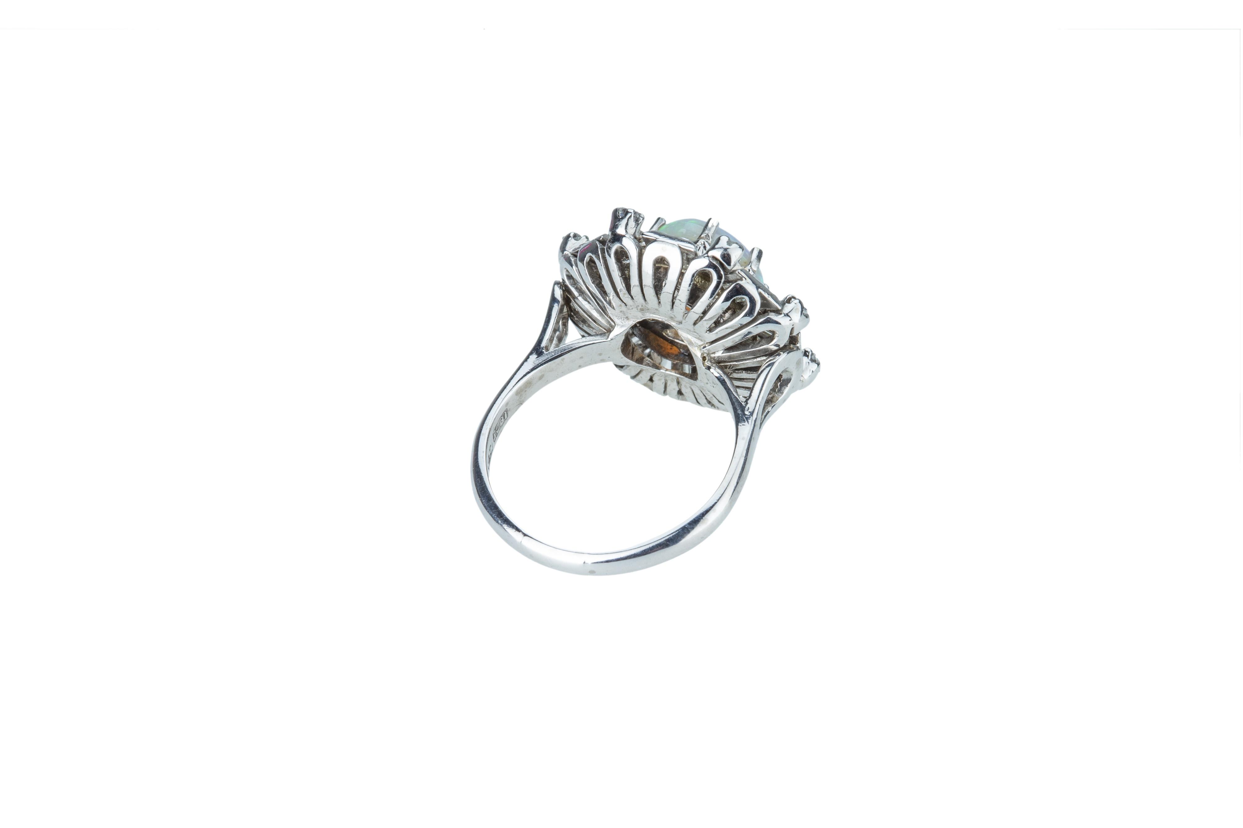 A precious opal and diamond dress ring. - Image 4 of 4