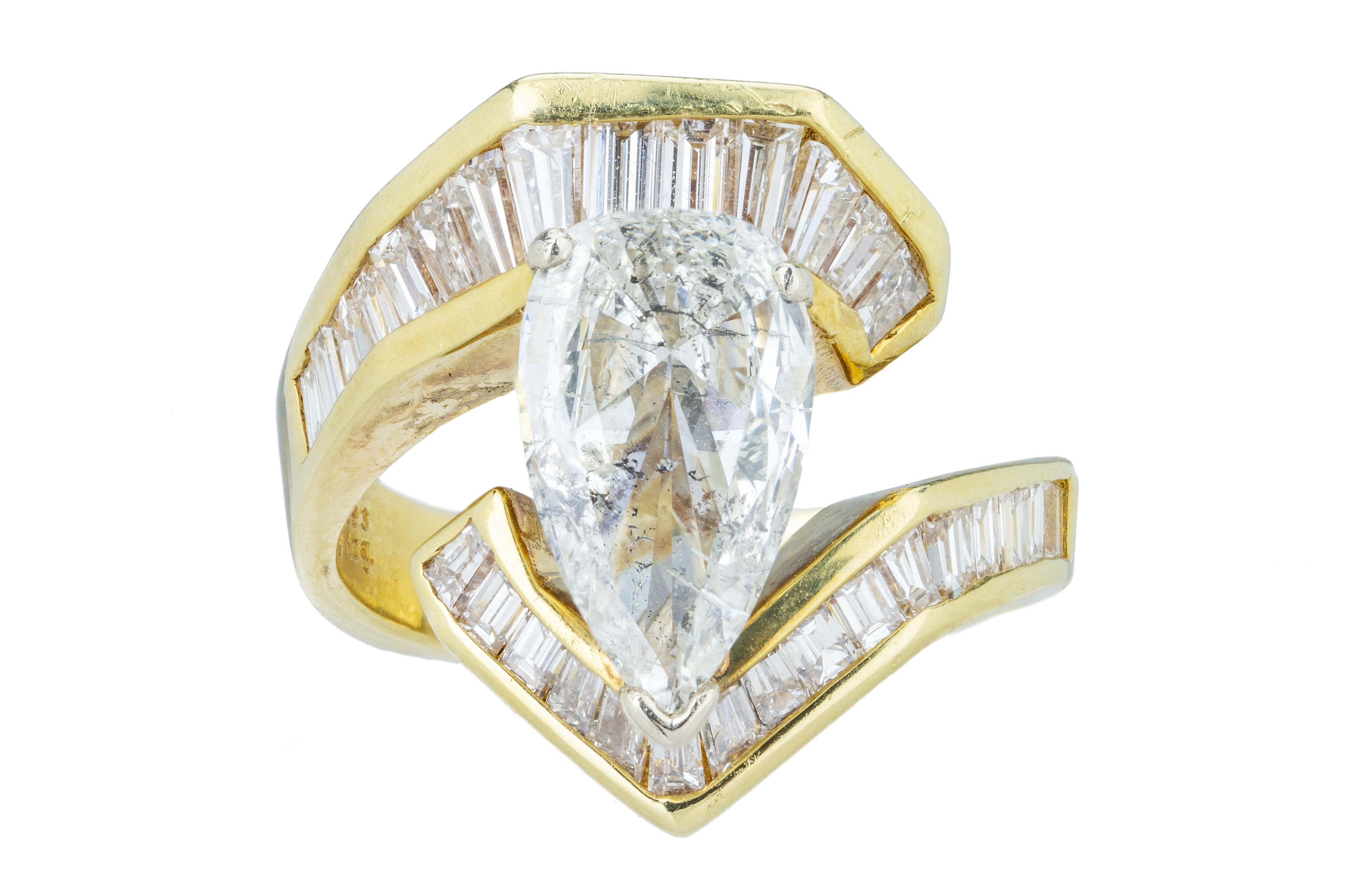 A flamboyant diamond dress ring.