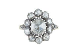 A Victorian rose cut diamond ring.