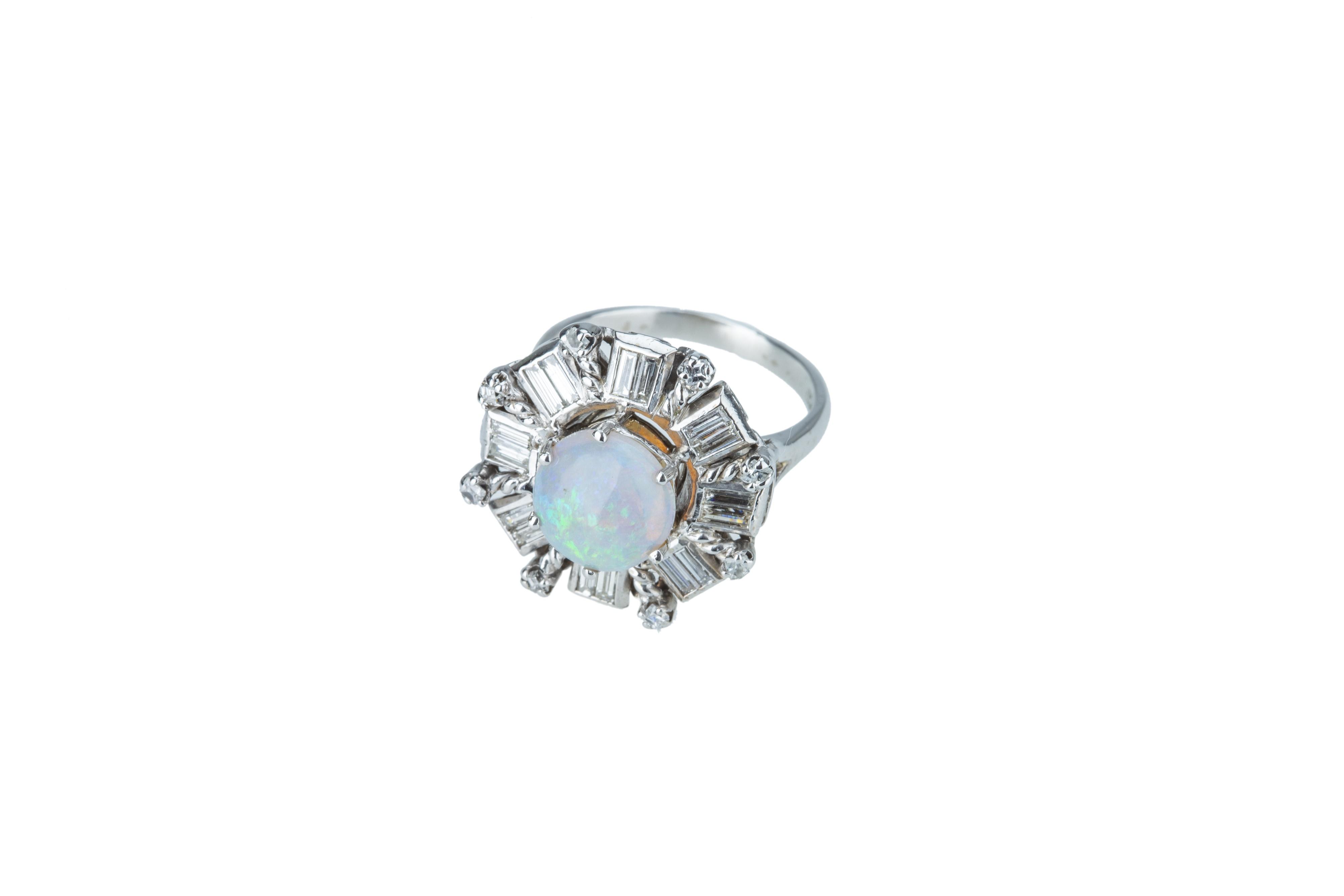 A precious opal and diamond dress ring. - Image 3 of 4
