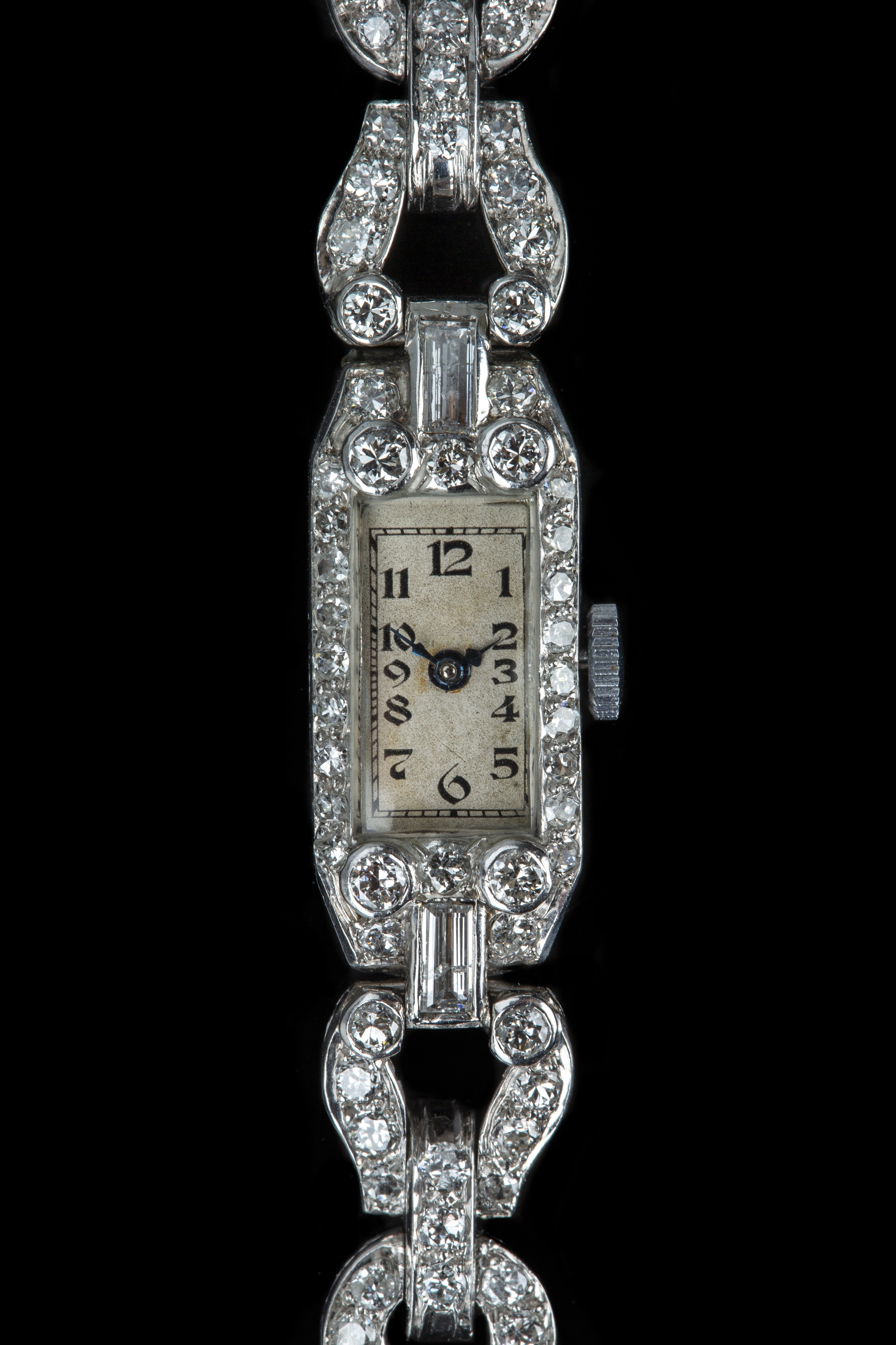An Art Deco platinum and diamond cocktail watch. - Image 4 of 5