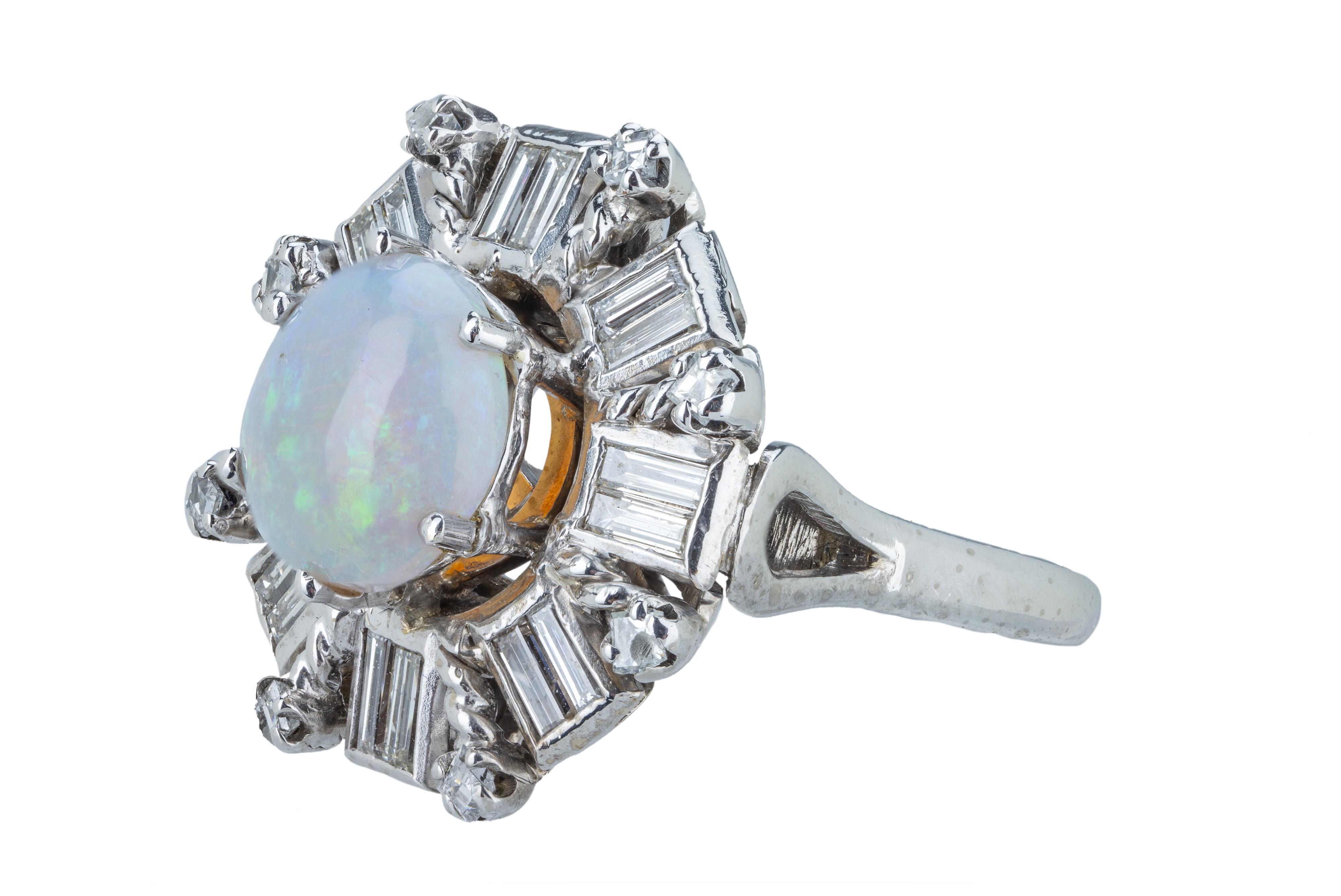 A precious opal and diamond dress ring. - Image 2 of 4