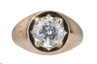 A gentleman's single stone diamond ring.