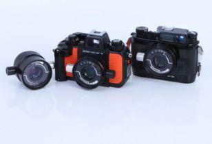 Two Nikon Nikonos Underwater Cameras,