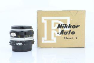 A Nikon NIkkor-H f/2 50mm Lens,