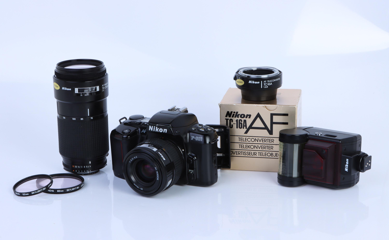 A Nikon F-601 SLR Camera,